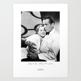 Casablanca 1942, Play it Sam, Play 'as time goes by, Movie Quote Art Print