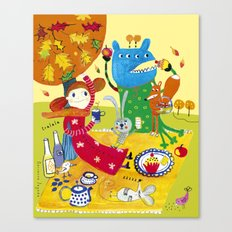 Sunny day in October Canvas Print