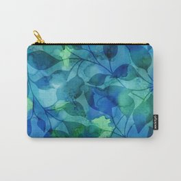 Alcohol Ink Leaves Carry-All Pouch