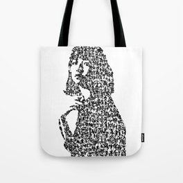 Kanji Calligraphy Art :woman's face #32 Tote Bag