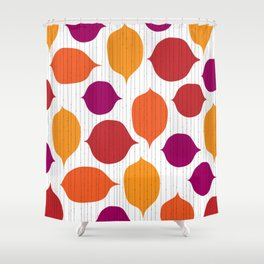 Shapes and Threads Shower Curtain
