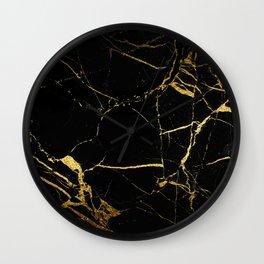 Golden Marble Wall Clock