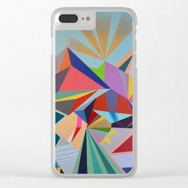 Geometric Mural Clear iPhone Case