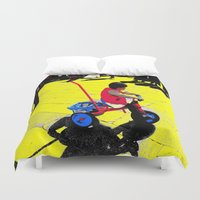 cycling Duvet Covers featuring Cycling by lookiz