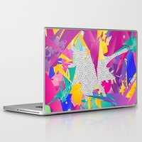 80s Laptop & iPad Skins featuring 80s Abstract by Danny Ivan