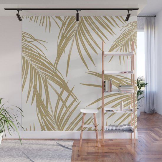 Gold Palm Leaves Dream #1 #tropical #decor #art #society6 by anitabellajantz