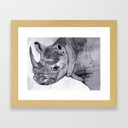 Rhino - Animal Series in Ink Framed Art Print