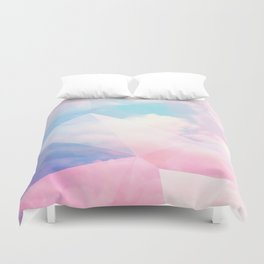 Cotton Candy Geometric Sky #homedecor #magical #lifestyle Duvet Cover