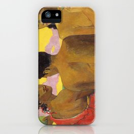 Three Tahitians by Paul Gauguin iPhone Case