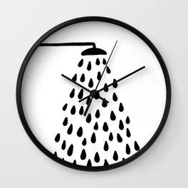 Shower in bathroom Wall Clock