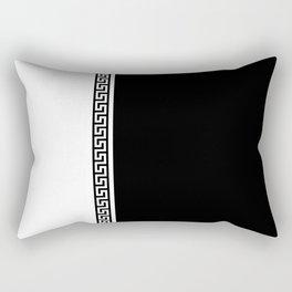 Greek Key 2 - B & W Rectangular Pillow