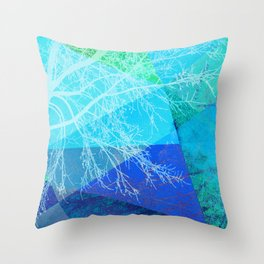 P19-C2 TREES AND TRIANGLES Throw Pillow