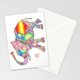 ELEPHANT WORLD MAP Stationery Cards