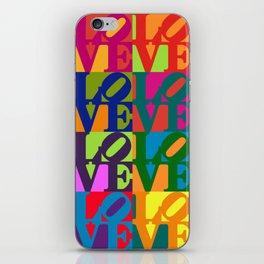 Love Pop Art iPhone Skin