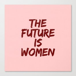 Empowered Women - The Future Is Women Coral Canvas Print