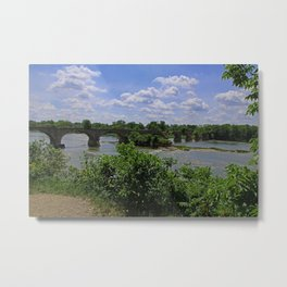 Tattered Trestle Over the Maumee Metal Print