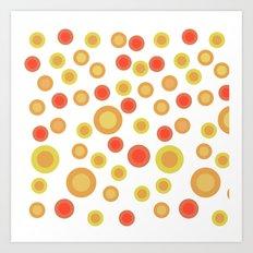 Circular Warm Texture Art Print