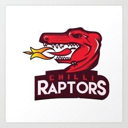 Chilli Raptors Art Print