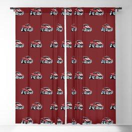 Sixties American Classic Muscle Car Cartoon Blackout Curtain