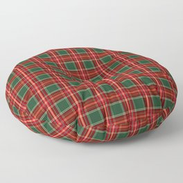 Christmas Plaid Pattern in Red and Green Floor Pillow
