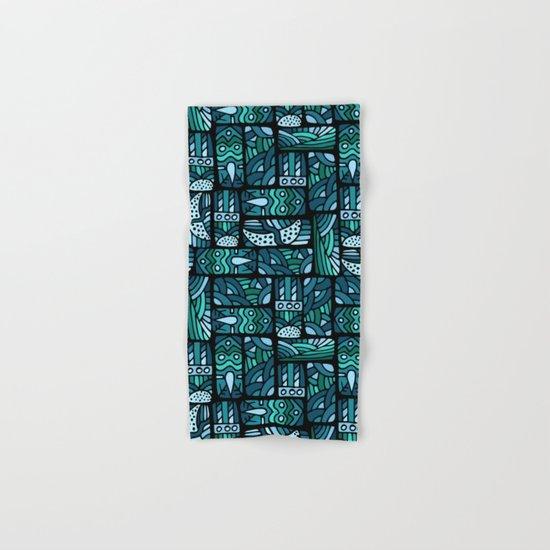 Ethnic blue pattern Hand & Bath Towel