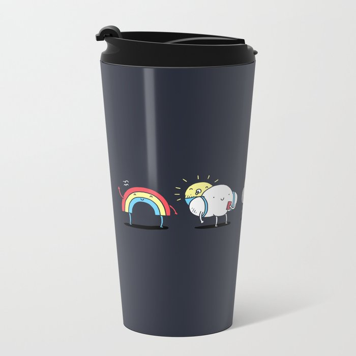 There's always rainbow after the rain Metal Travel Mug
