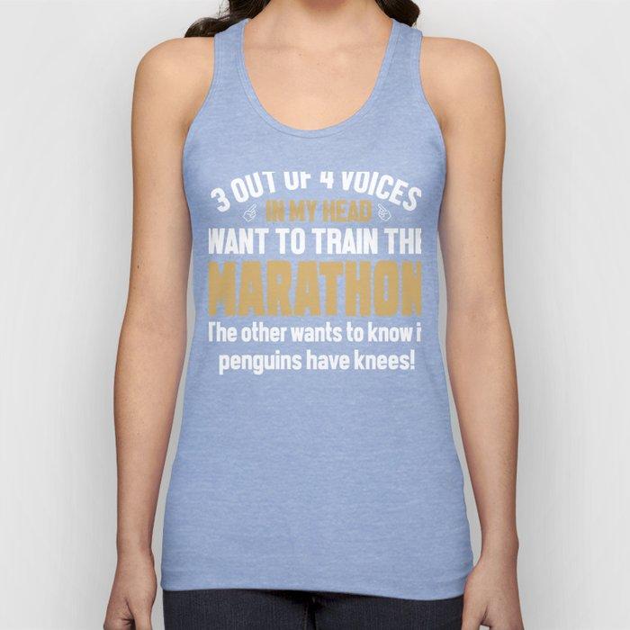 Marathon Runner Voices In My Head Unisex Tank Top