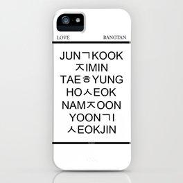 BTS Hangul Time! iPhone Case
