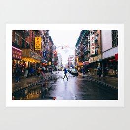 Chinatown Crossing Art Print