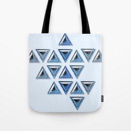 Blue Gradient Trillion Pattern Tote Bag