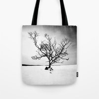 tree of life Tote Bags featuring TREE LIFE by Maioriz Home