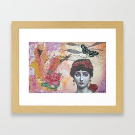 Young lady - Pink Framed Art Print