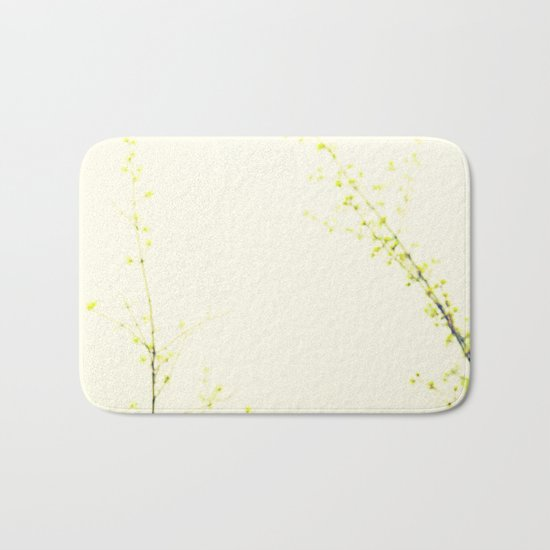 Her Thoughts Were Like Flowers Floating to the Sky Bath Mat