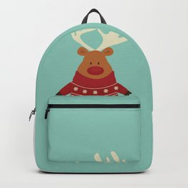 Rudolph Red Nosed Reindeer in Ugly Christmas Sweaters Backpack