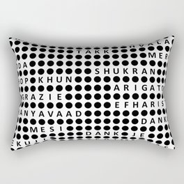 Thank you in different languages Rectangular Pillow