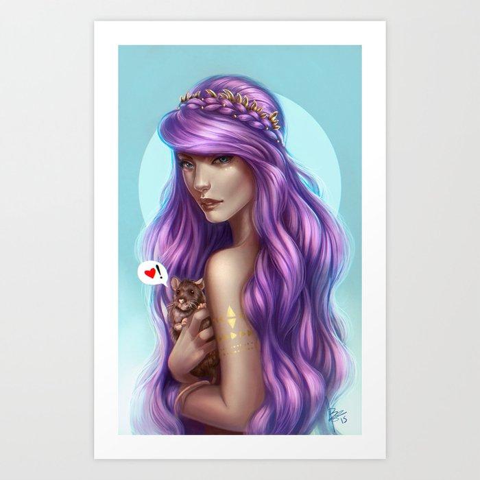 Lovely Rat Art Print