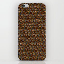 Glitter Fish Gold and Blue iPhone Skin