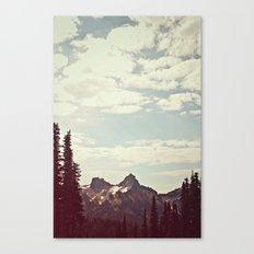 Vintage Mountain Ridge Canvas Print