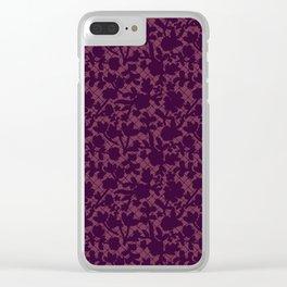 Lace - purple Clear iPhone Case