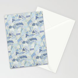 Terrazzo pattern blues palette Stationery Cards