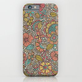Doodles Garden iPhone Case