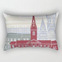 Harvard skyline poster Rectangular Pillow