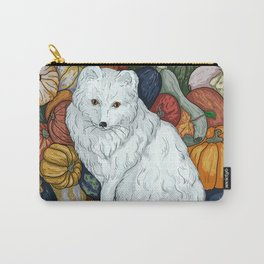 Arctic Fox. October. Carry-All Pouch