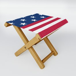 US Flag Folding Stool