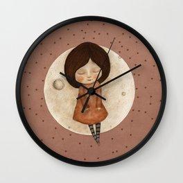 Moon Song 4 Wall Clock