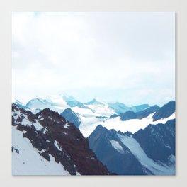 No limits - mountain print Canvas Print