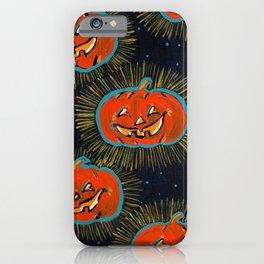 Starry Jack o' lanterns iPhone Case