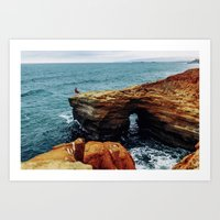 Point Loma Cliffs Art Print