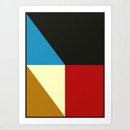 Mid Century Geometric F Art Print