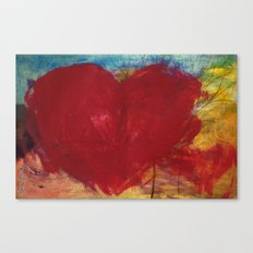 Blood Red Love Canvas Print